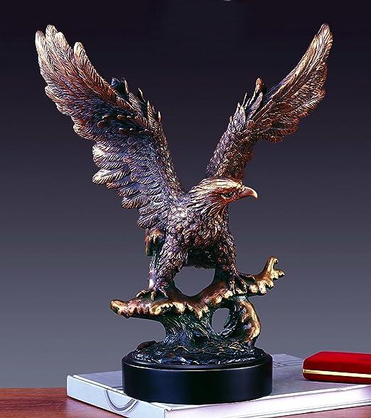 Treasure of Nature Soaring American Eagle on Waves Statue