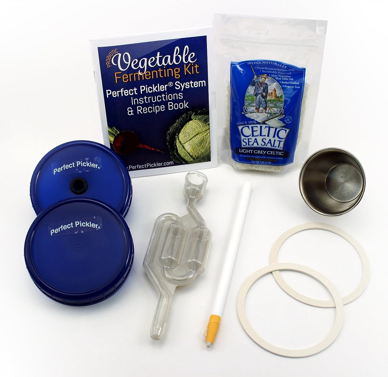 Perfect Pickler Vegetable Fermenting Kit Master System, Fits Wide Mouth Jars VFK