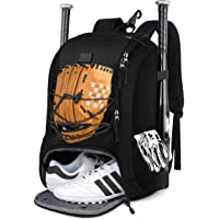 MATEIN Baseball Backpack, Softball Bat Bag with Shoes Compartment for Youth, Boys and Adult, Lightweight Baseball Bag…