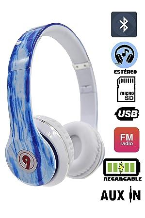 ELECITI Cascos Auriculares Bluetooth con Micrófono (Modelo Oceáno): Amazon.es: Electrónica