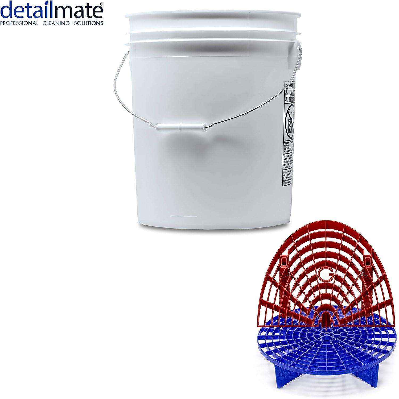 Detailmate Professionelles Wasch Eimer Set Made By Gritguard Wascheimer 5 Gal Ca 20 Liter Gritguard Schmutz Einsatz Blau Gritguard Washboard Rot Küche Haushalt