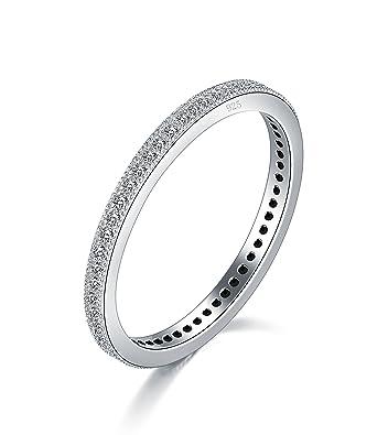 0ce6d19c2f56 Amazon.com  BORUO 2MM 925 Sterling Silver Ring
