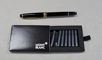 Montblanc Meisterstuck Classique Fountain Pen 144, Black With Gold Trim,  13670
