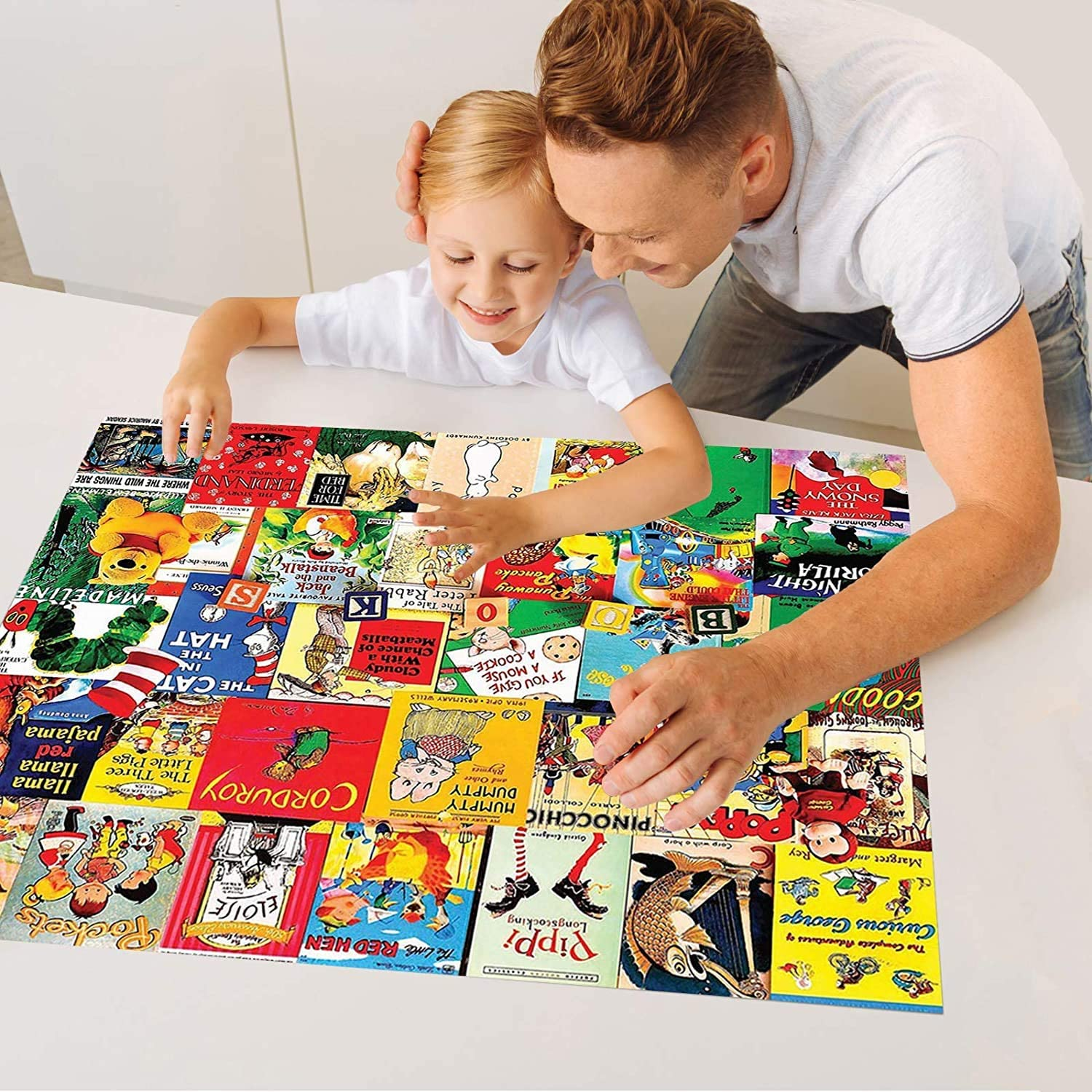 Adult Jigsaw Puzzle 1000 Pieces Story time Jigsaw Puzzle Tangram Puzzle Large Jigsaw Puzzle Game for Adults and Teenagers Product Size 27.5X 19.6 inches