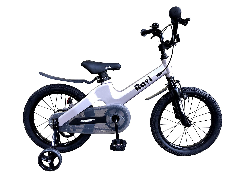 Eizer(アイゼル) 【子供用自転車】 おしゃれでカッコいいドイツデザイン超軽量マグネシウム合金7㎏台~ キッズジュニア用自転車Raviラビ14インチ カラーバリエーション Ravi14 シルバー 14インチ   B07HQQ2Z5T