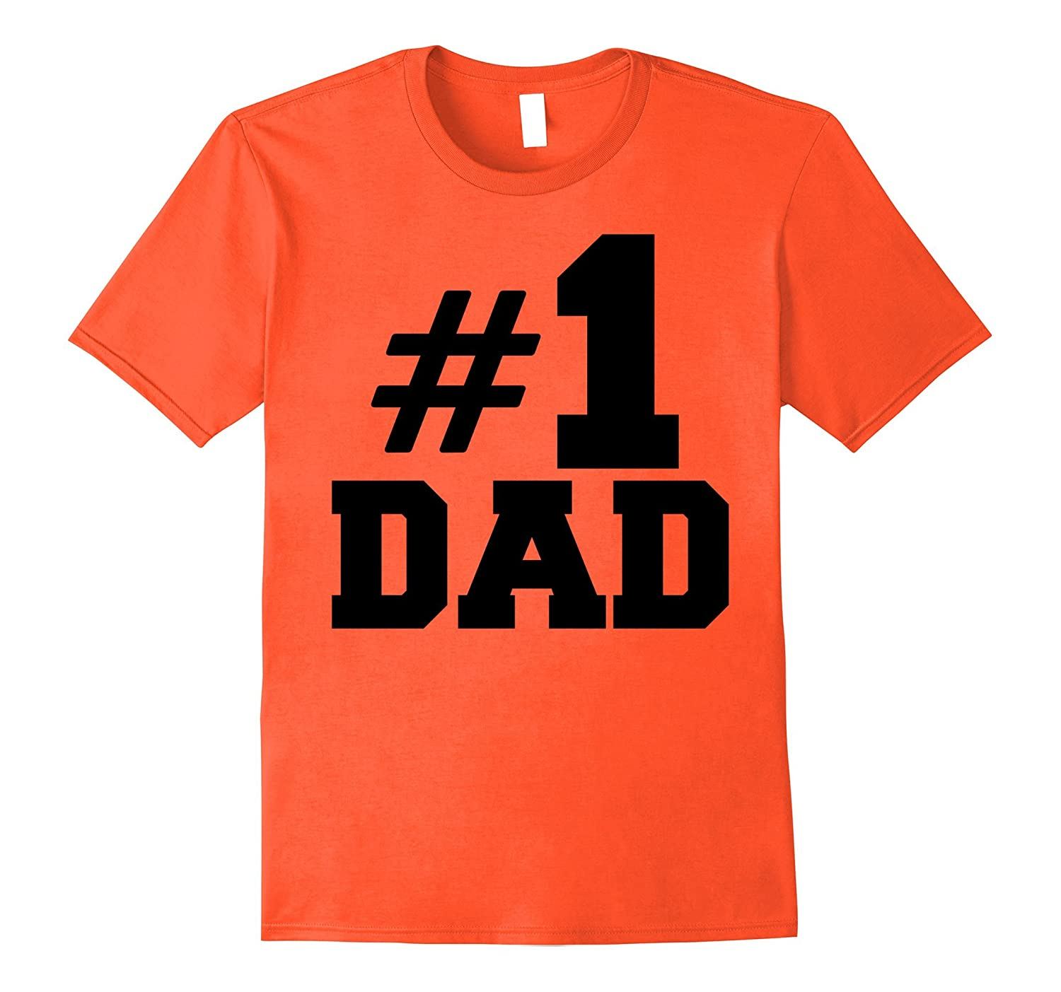#1 Dad T-Shirt, number one dad gift for fathers day-Rose