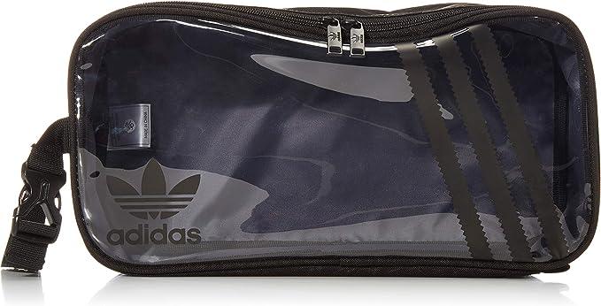adidas Originals - Bolsa para zapatos unisex con 3 rayas, color negro y transparente, talla única: Amazon.es: Deportes y aire libre