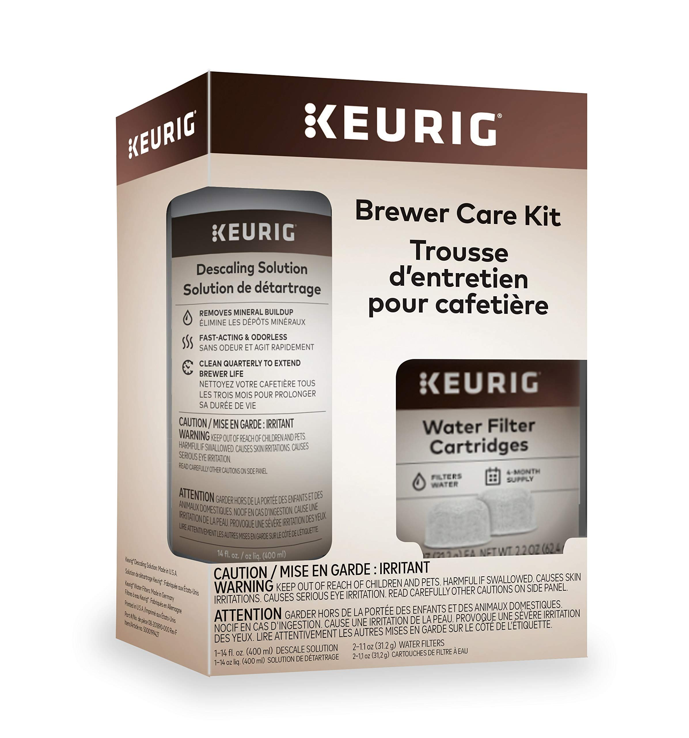 Keurig Brewer Care Kit with Descaling Solution and 2 Water Filter Cartridges, Compatible With All Keurig 2.0 and 1.0 K-Cup Pod Coffee Makers by Keurig (Image #2)