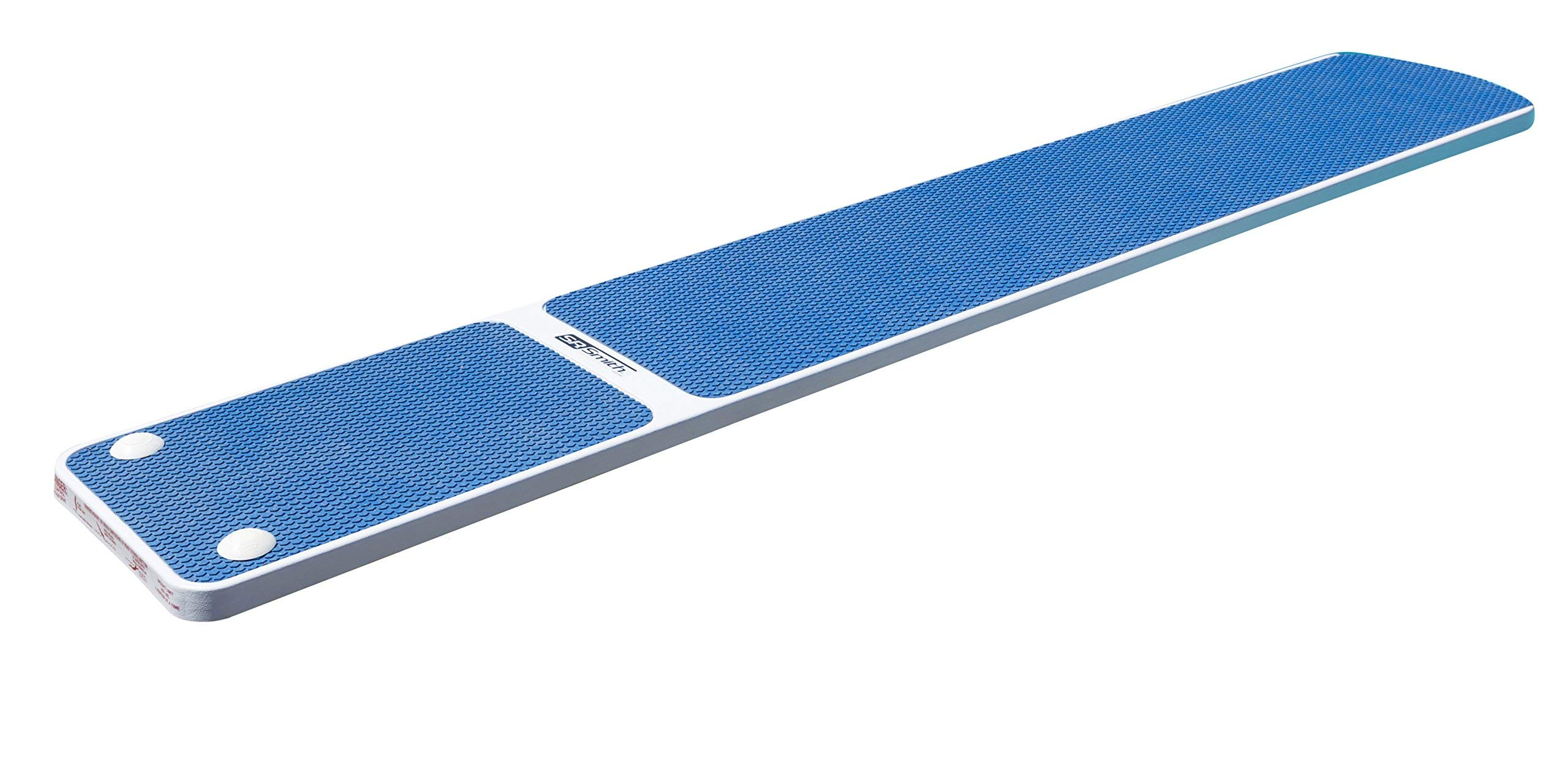 S.R. Smith 66-209-578S2B Truetread Diving Board, 8-Foot, Radiant White with Blue (Renewed) by S.R. Smith