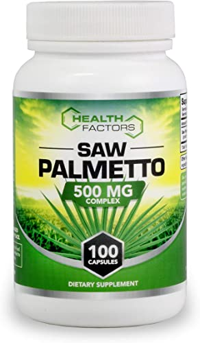 Saw Palmetto for Prostate Support – Berry Powder with Extract to Reduce Frequent Urination and Help Block DHT to Reduce Hair Loss – 500 MG Capsules – Money-Back Guarantee