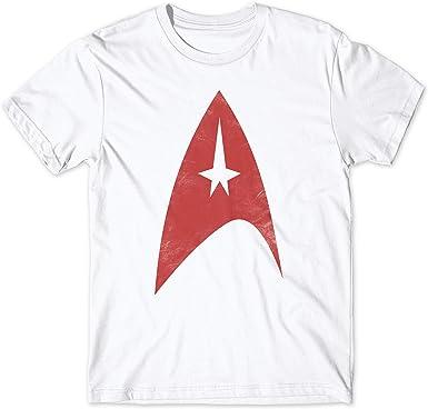 LaMAGLIERIA Camiseta Hombre Star Trek Logo Red Print - Camiseta 100% algodón Nerd Retro TV Show t-Shirt: Amazon.es: Ropa y accesorios