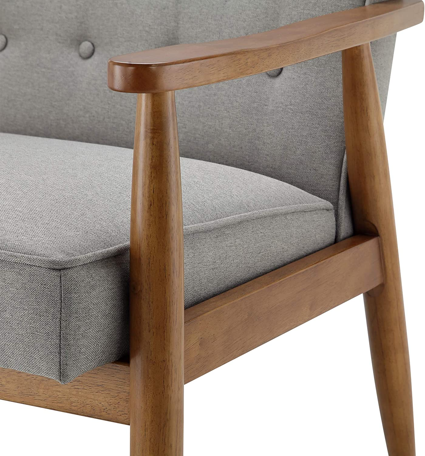Ball & Cast Tufted Fabric Accent Chair, Grey