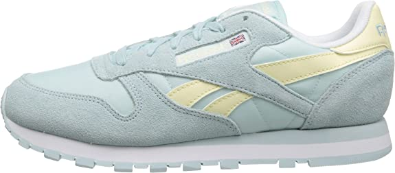 81c77a95334 Amazon.com  Reebok CL Leather Seasonal I Womens Classics Shoe 11 Whisper  Blue-Washed Yellow-White  Shoes