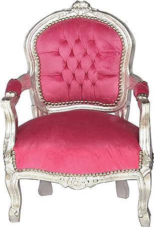 Poltrone In Plastica Stile Barocco.Luxus Pur Ug Sedia Per Bambini Poltrona Antico Stile Barocco Rosa
