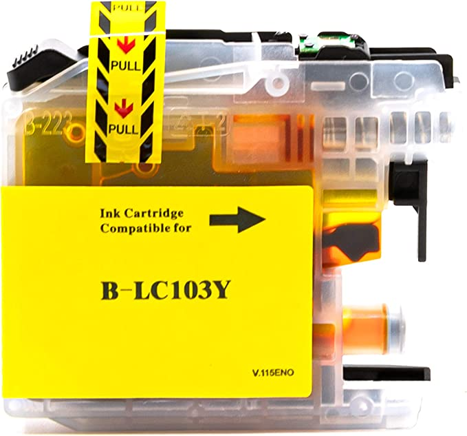 LC103Y Yellow,1 Pack SuppliesOutlet Compatible Ink Cartridge Replacement for Brother LC103