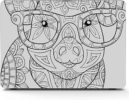 Libro para Colorear para Adultos Pig Style Art Macbook Air/Pro 11/12/13/15 Inch Estuche de plástico Estuche rígido Carcasa Macbook Pro Estuche Protector Macbook Pro Estuche para computadora portáti: Amazon.es: Electrónica