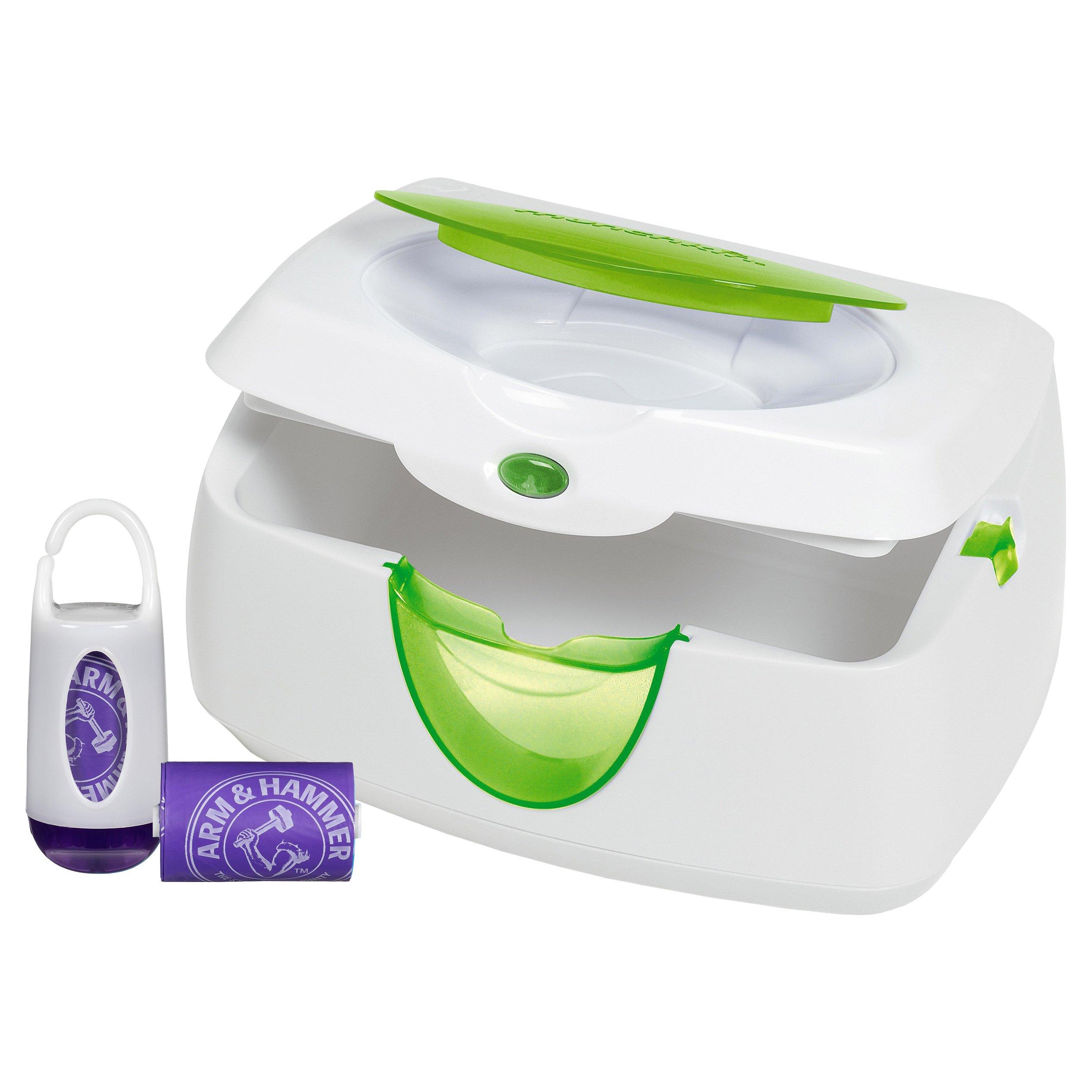 Munchkin Warm Glow Wipe Warmer and Diaper Bag Dispenser Set (Purple)