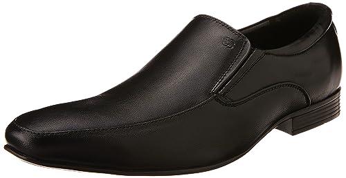 917143a8b233 Nez Men s O38 (A) 09 Black Leather Formal Shoes - 10 UK  Buy Online ...