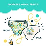 Seventh Generation Baby Diapers, Free and Clear for Sensitive Skin, with Animal Prints, Newborn, 36 Count
