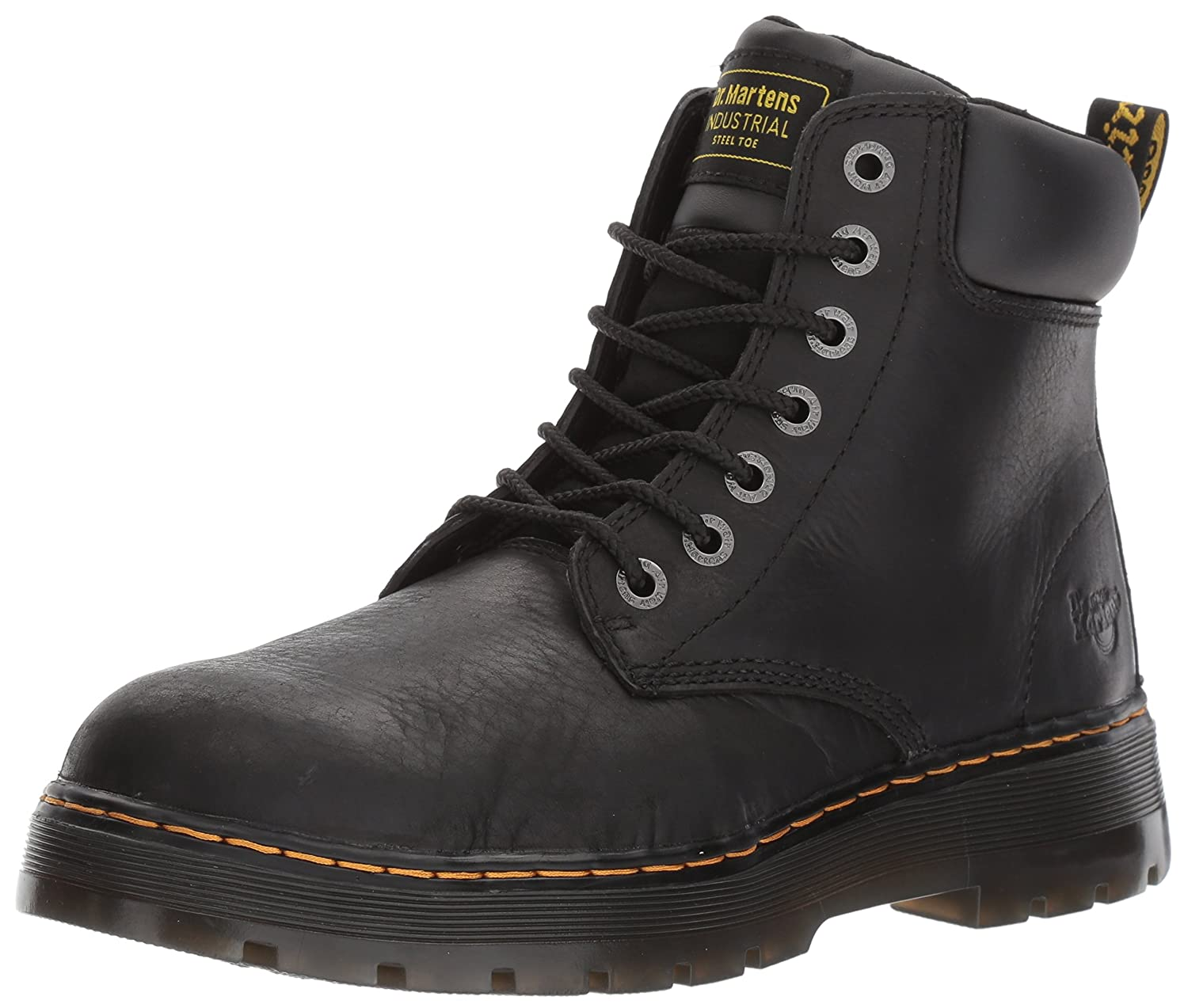 Dr. Martens Men's Winch 7-Eye Cushion Safety Toe Boot R16258201