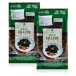 Organic Dried Kelp from Wando ?? [ Korean Food ] Low Calorie Dasima, Perfect for Healthy Soup Stocks and Side Dishes [ JRND Foods ] Two 150g Bags