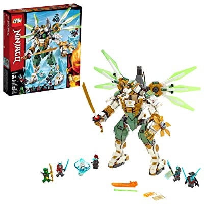 LEGO NINJAGO Lloyd\'s Titan Mech 70676 Ninja Toy Building Kit with Ninja Minifigures for Creative Play, Fun Action Toy includes NINJAGO characters including Lloyd, Zane FS and more (876 Pieces): Toys & Games [5Bkhe0501889]