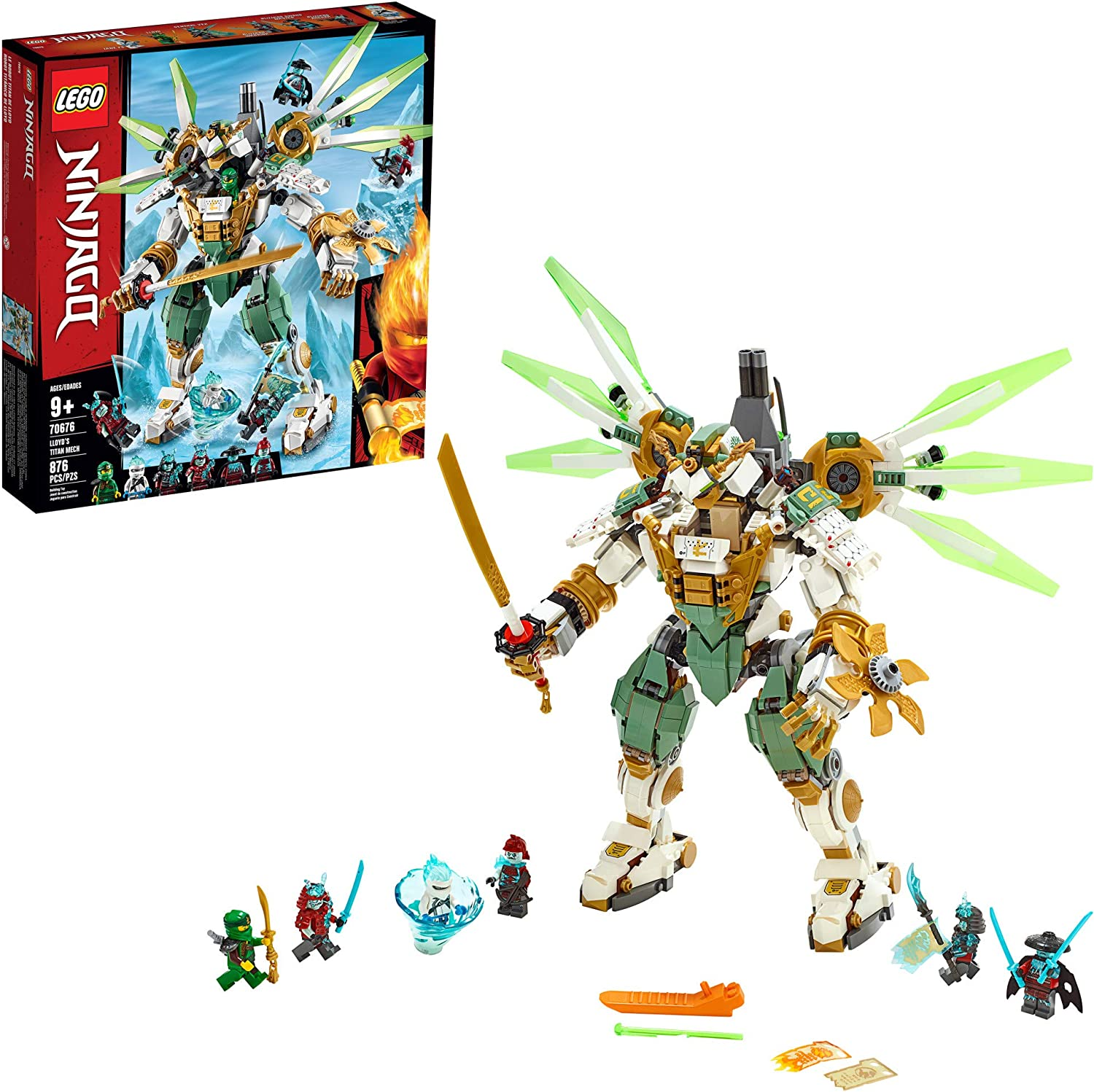 LEGO NINJAGO Lloyds Titan Mech 70676 Ninja Toy Building Kit with Ninja Minifigures for Creative Play, Fun Action Toy includes NINJAGO characters ...