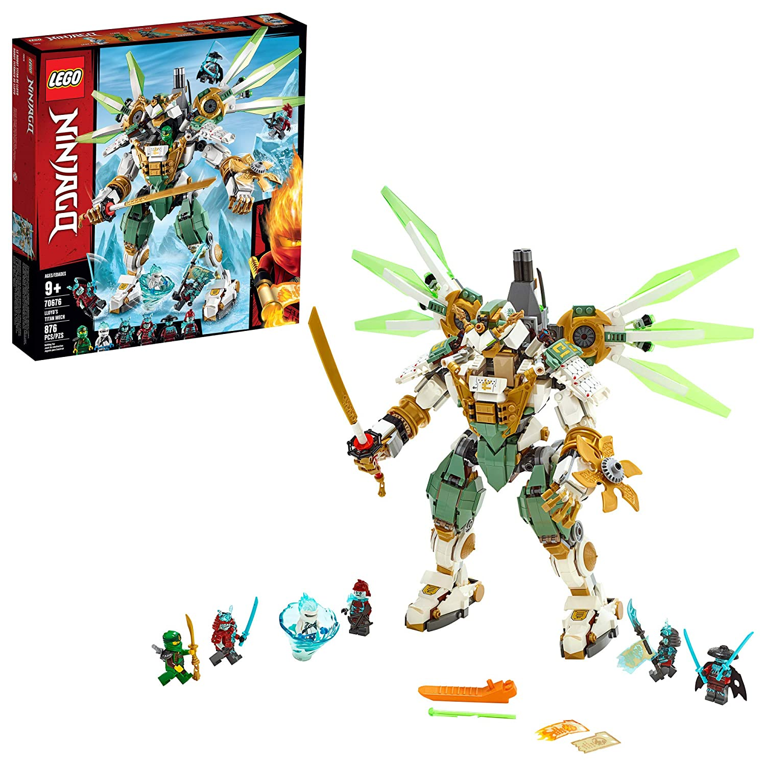 LEGO NINJAGO Lloyd's Titan Mech 70676 Building Kit, New 2019 (876 Pieces)