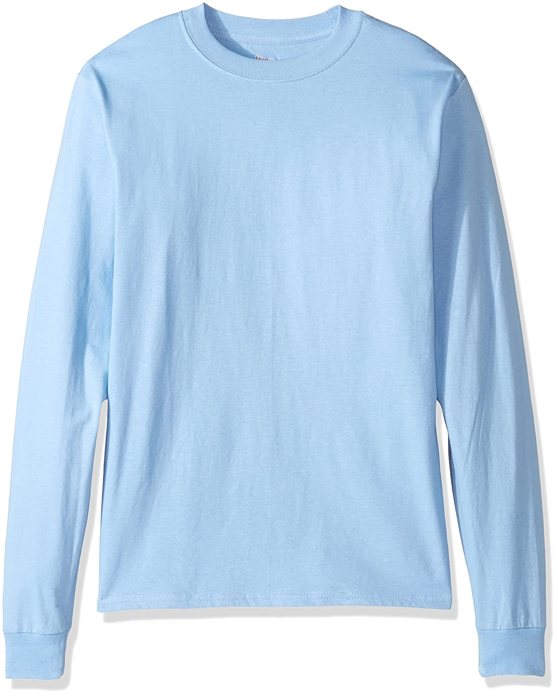 Hanes Mens Beefy Long Sleeve Shirt Hanes Branded Printwear O5186