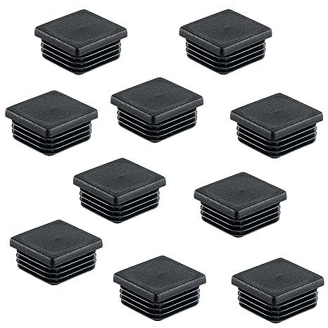 10 piezas tapones para tubos cuadrados 90x90 negro plástico tapa de extremo tapas Tapas Ferretería
