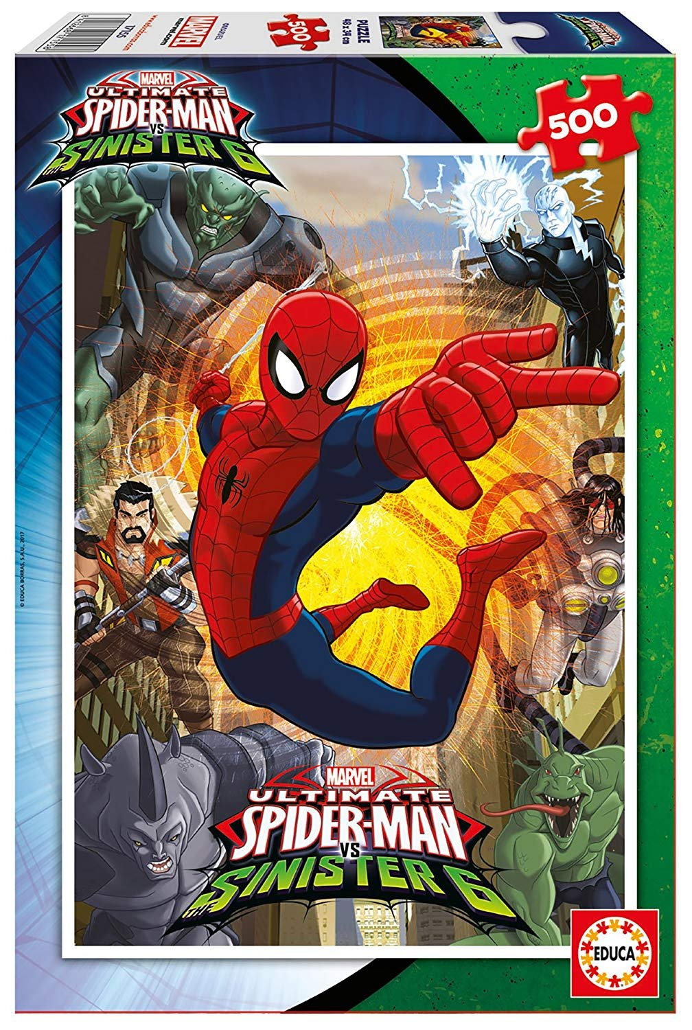 Marvel Spiderman Sinister 6 500 Piece Puzzle