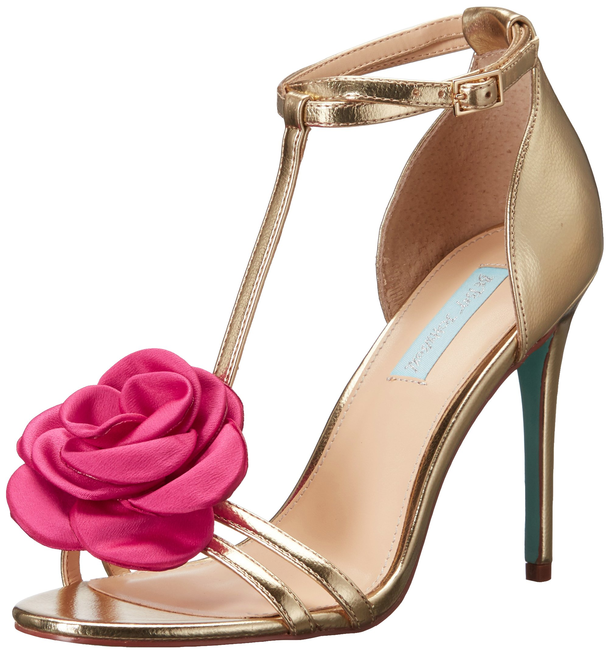 Blue by Betsey Johnson Women's SB-Emme Dress Sandal, Gold/Metallic, 7.5 M US