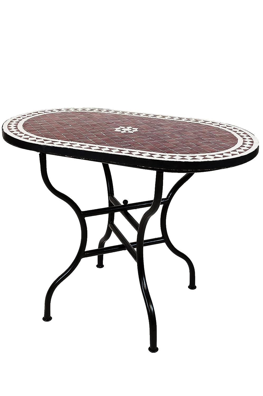 ... Papelera plegable mosaico comedor Mediterran | como mesa plegable para terraza o jardín | Bilbao Burdeos Blanco 100 x 60 cm: Amazon.es: Jardín