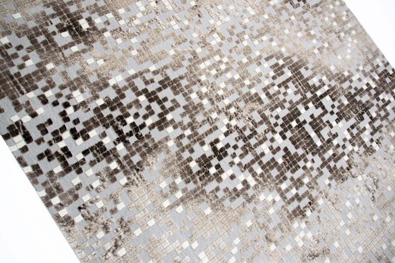 Traum Teppich Designerteppich Moderner Teppich Wohnzimmerteppich Kurzflor Teppich Teppich Teppich mit Konturenschnitt in Grau Braun Beige, Größe 160x230 cm B06WLGVQ7J Teppiche a38d54