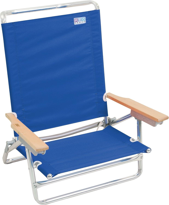 Rio Beach Wave 1-Position Beach Folding Sand Chair