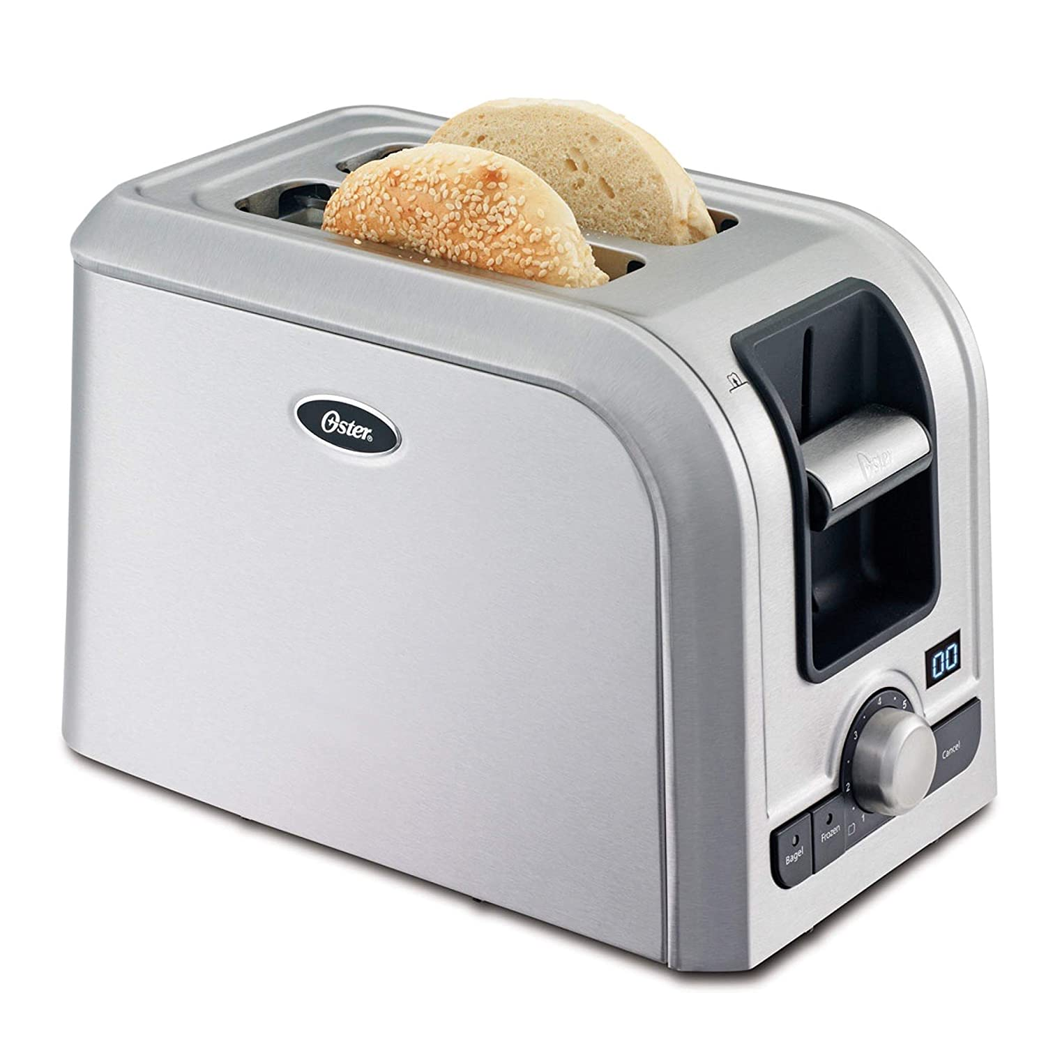 Oster 2-Slice Digital Countdown Toaster, Brushed Stainless Steel