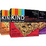 KIND Healthy Grains Granola Bars, Variety Pack, Dark Chocolate Chunk, Peanut Butter Dark Chocolate, Maple Pumpkin Seeds…