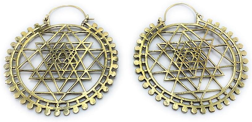 Statement Earrings Geometric earrings Dangle earrings  Minimalist brass jewelry Minimalist hoop Earrings Modern Brass earrings