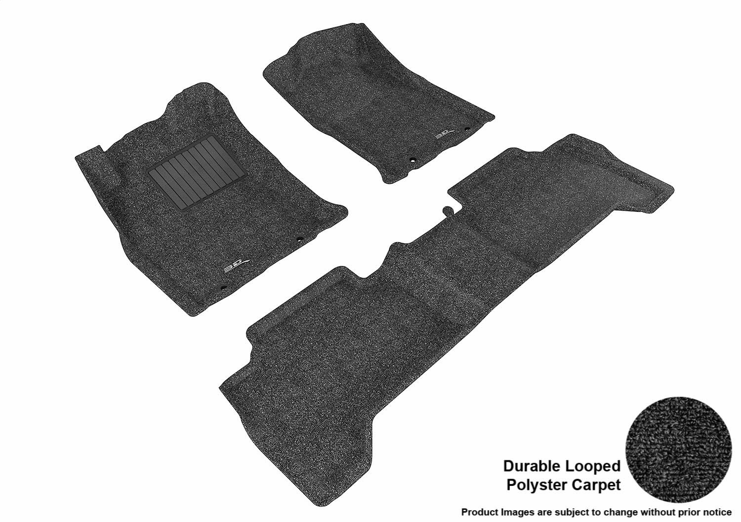 Classic Carpet 3D MAXpider Complete Set Custom Fit Floor Mat for Select Toyota Tacoma Models L1TY09002209 Black