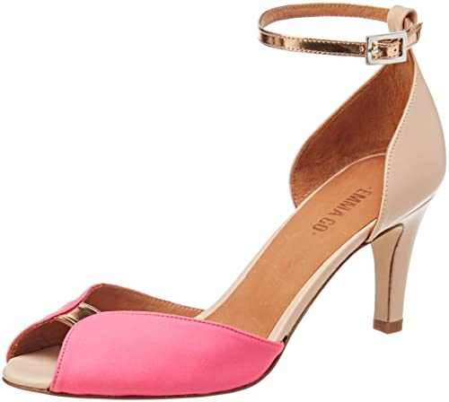 Womens Jolene Ankle Strap Sandals, Rose (Rose Neon Pink and Calf Nude), 6 UK Emma Go