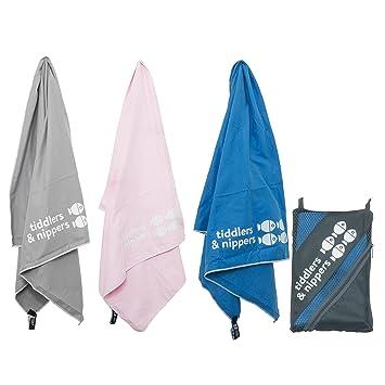 Toalla de microfibra infantil, con bolsa de transporte; superabsorbente y de secado rápido,