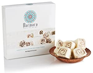 HOLIDAY SALE! Marmara Authentic Turkish Delight Lokum with COGAN PRALINE Sweet Confectionery Gourmet Gift Box Candy Dessert Large 8 .8 oz