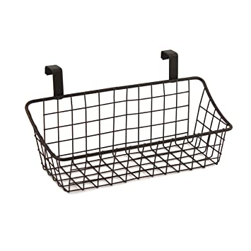 Spectrum Diversified Grid Storage Basket, Over The Cabinet Door, Small,  Bronze