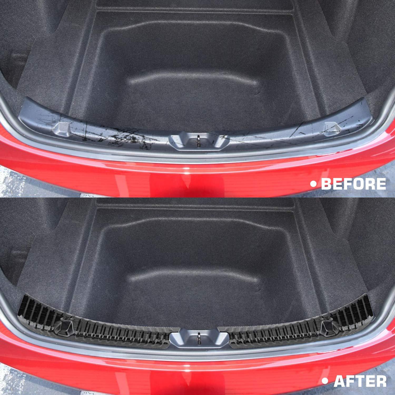 BASENOR Tesla Model 3 Rear Trunk Bumper Protector Guard Stainless Steel Black Titanium