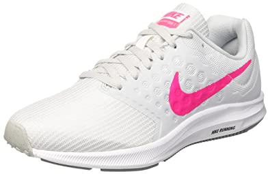 save off 46cce 29d4f Nike Downshifter 7, Chaussures de Running Femme, Multicolore (White Hyper  Pink