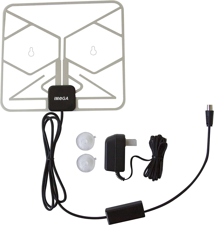 IMega WNDW-8000 DIGITAL HDTV UHF VHF DTV PAPER THIN WINDOW INDOOR ANTENNA COAXIAL CALBE HD TV AMP