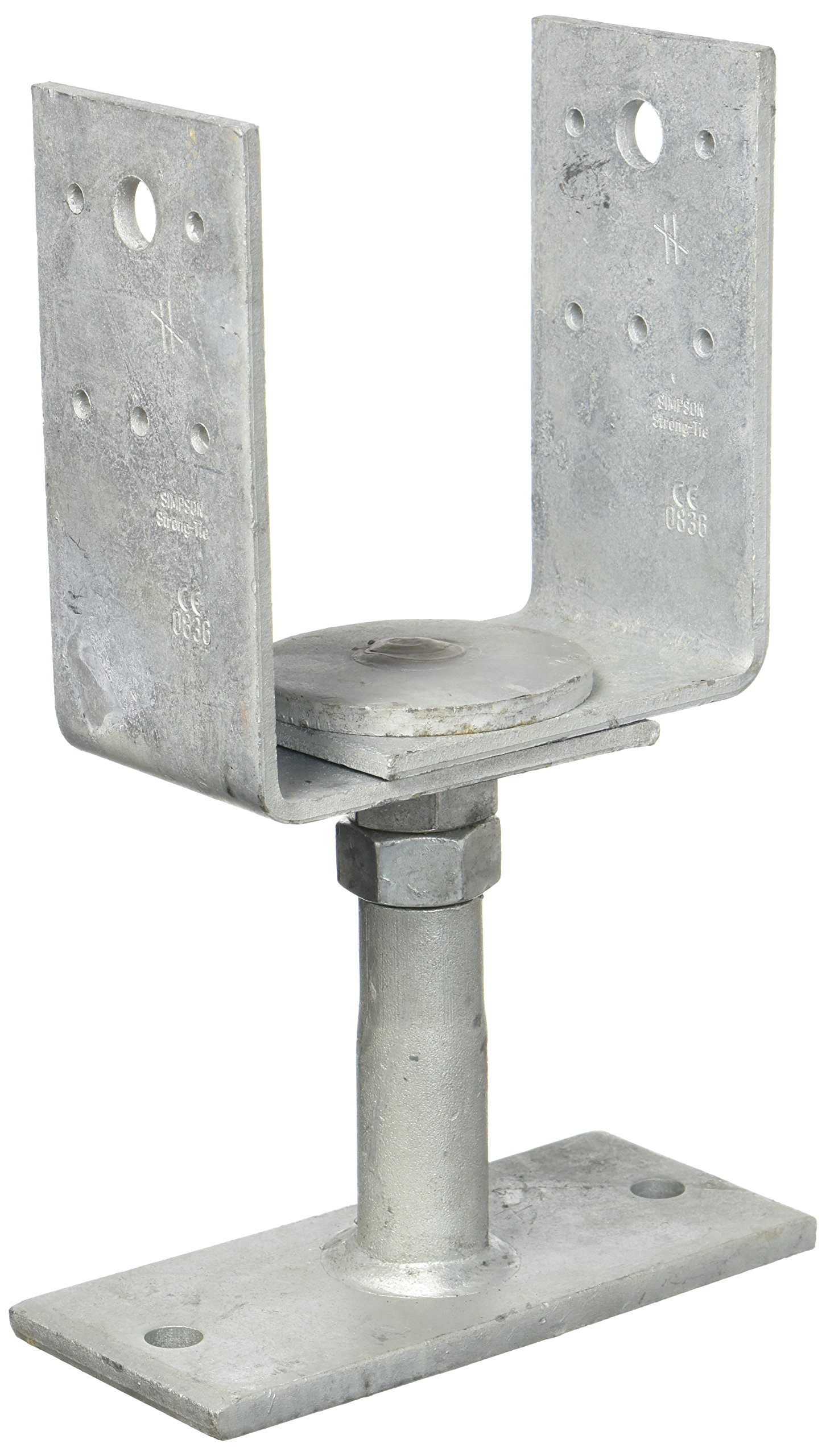 Simpson PVDB120G Column Base PVDB 120g/W Height Adjustable Hot-Dip Galvanised with Certification