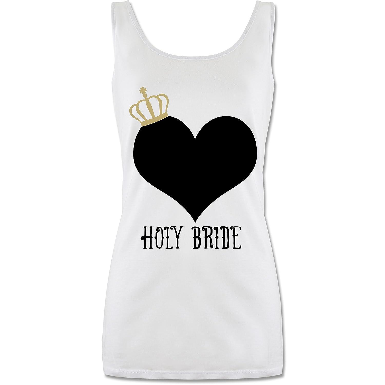 Holy Bride Krone lang-geschnittenes Tanktop f/ür Damen Shirtracer JGA Junggesellinnenabschied