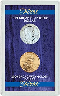 product image for American Coin Treasures First 1979 Susan B. Anthony Dollar and 2000 First Sacagawea Dollar