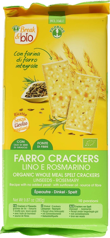 Probios Break&Bio Crackers de Espelta con Lino y Romero - 12 ...